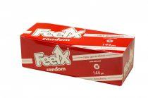 FeelX óvszer - epres (144db)
