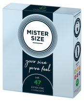 Mister Size vékony óvszer - 47mm (3db)