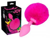 Colorful JOY - anál dildó nyuszifarokkal (pink)