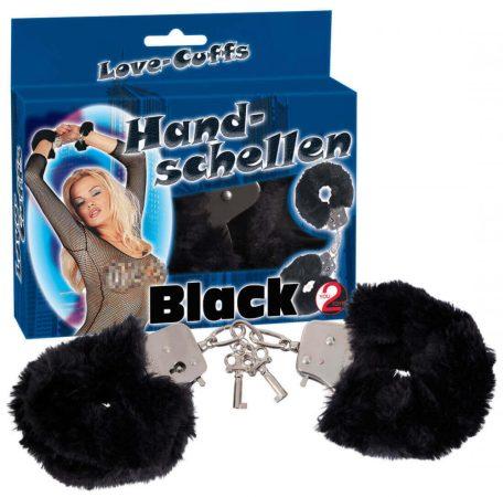 Plüss bilincsek - fekete