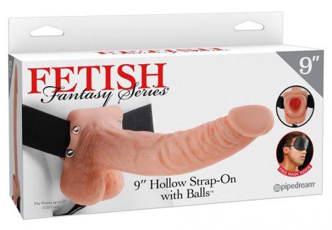 Fetish Strap-on 9 - felcsatolható dildó (natúr)