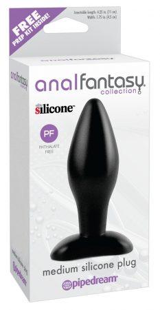 analfantasy Medium plug - szilikon anál dildó - közepes (fekete)