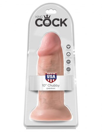 King Cock 10 dildó (25cm) - natúr