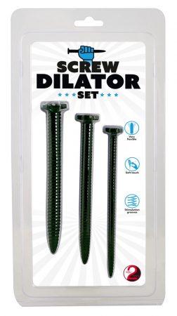 Screw Dilator - csavaros húgycsőtágító dildó szett (3 részes)
