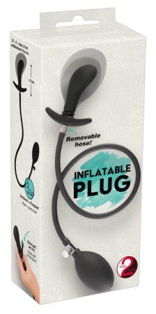 You2Toys - pumpálható, tágító anál tágító dildó (fekete)