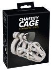Chastity Cage - fém péniszketrec, lakattal