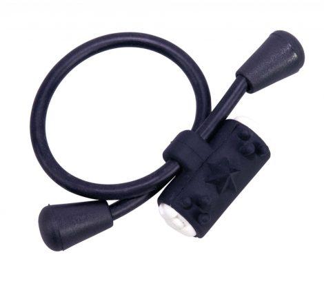 Állítható, szilikon vibrogyűrű (fekete)