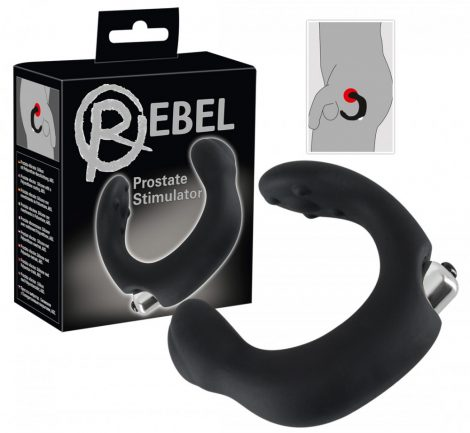Rebel - íves prosztata vibrátor (fekete)