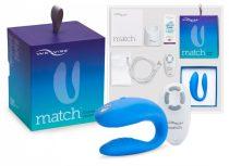We-Vibe Match - vízálló, akkus párvibrátor (kék)