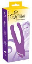 SMILE Double - kétágú szilikon vibrátor (lila)