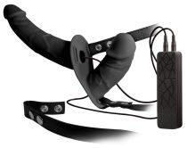 Double Thruster - felcsatolható dupla vibrátor (fekete)
