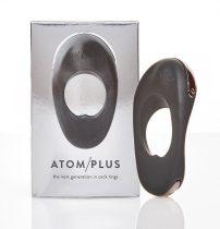Atom Plus - akkus, dupla-motoros péniszgyűrű (fekete)