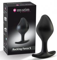mystim Rocking Force S - elektro kúp dildó - kicsi (fekete)