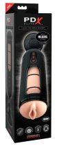 PDX Elite Mega Milker - vibráló, péniszfejő punci maszturbátor (fekete)