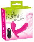 SMILE Panty - akkus, rádiós felcsatolható vibrátor (pink)