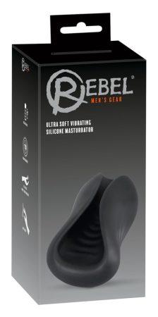 Rebel - akkus, szilikon péniszvibrátor (fekete)