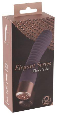 You2Toys Elegant Flexy - akkus, redős G-pont vibrátor (sötétlila)