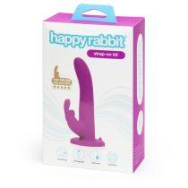 Happyrabbit Strap-On - nyuszis felcsatolható vibrátor (lila)