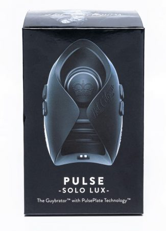 Hot Octopuss Pulse Solo Lux - akkus, rádiós maszturbátor (fekete)