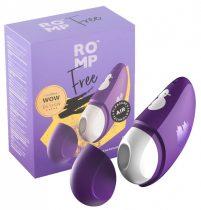 ROMP Free - akkus, vízálló léghullámos csiklóizgató (lila)