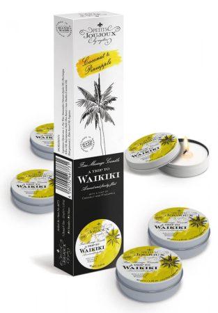 Petits Joujoux Waikiki - masszázsgyertya szett - 5db (kókusz-ananász)