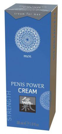 HOT Shiatsu Penis Power - stimuláló intim krém férfiaknak (30ml)