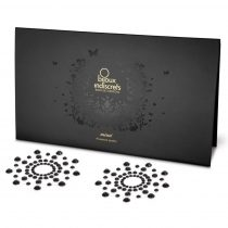 Csillogó gyémántok bimbómatrica (fekete)