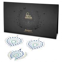 Csillogó gyémántok intim ékszer szett - 3 részes (zöld-kék)