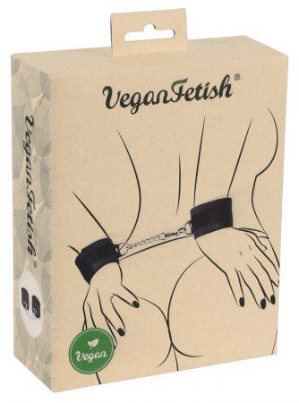 Vegan Fetish - csukló bilincs rövid lánccal (fekete)