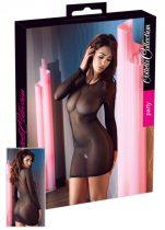 Cottelli - hosszúujjú, áttetsző ruha (fekete)