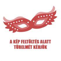 Cottelli Plus Size - virágmintás-fényes ruha (piros-fekete)