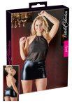 Cottelli - fényes chiffon ruha (fekete)