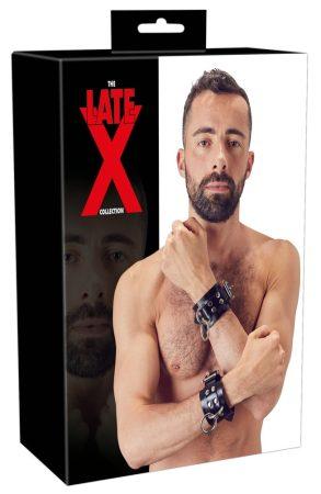 LATEX - latex csuklóbilincs pár (fekete)