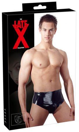 LATEX - férfi alsó belső kúpos anál dildóval (fekete)