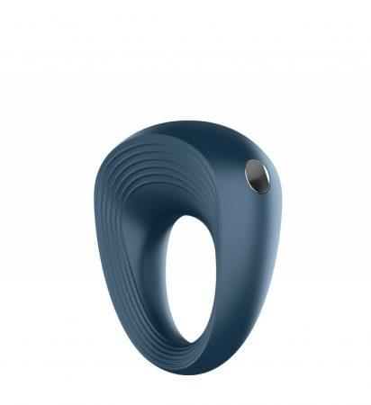 Satisfyer Power Ring - vízálló, akkus péniszgyűrű (szürke)