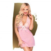 Penthouse Sweet & Spicy - nyakpántos, csipkés ruha tangával (pink)
