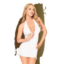Penthouse Earth-shaker - nyakpántos, húzott ruha tangával (fehér)