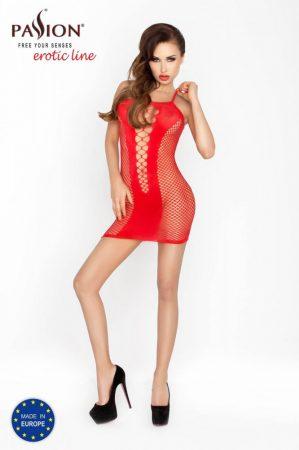 Passion BS027 - extrém hálós, necc miniruha (piros) - S-L