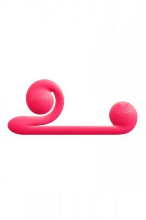 Snail Vibe Duo - akkus, 3in1 stimulációs vibrátor (pink)