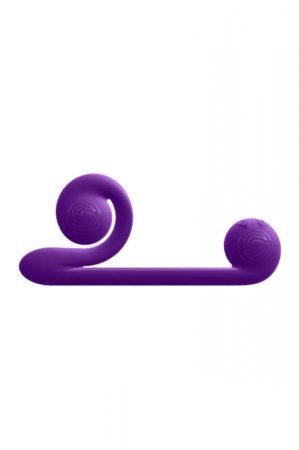 Snail Vibe Duo - akkus, 3in1 stimulációs vibrátor (lila)