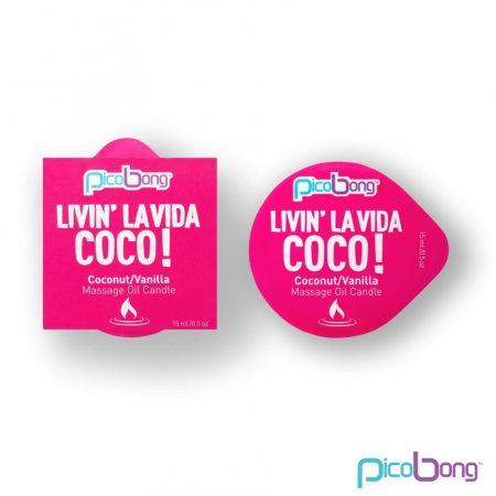 Picobong masszázsgyertya - kókusz-vanília (15ml)