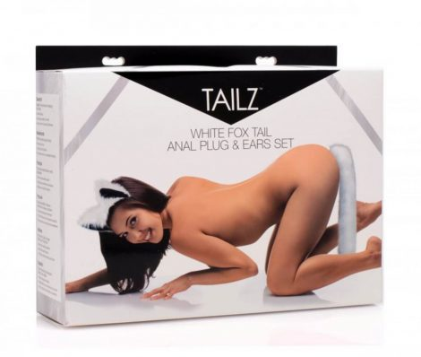 TAILZ - Fehér róka anál dildó szett