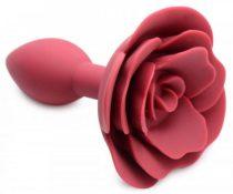 Master Series Booty Bloom - rózsás, szilikon anál dildó (piros)