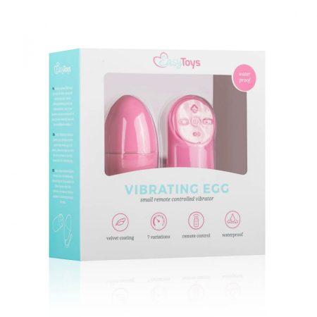 Easytoys - 7 ritmusú rádiós vibrációs tojás (pink)