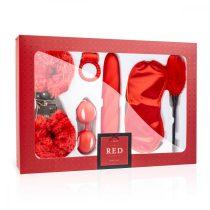 Loveboxxx I love Red - vibrátoros kötöző szett (6 részes) - piros