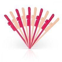 Easytoys Penis Straws - péniszes szívószál (sötét pink-natúr) - 10db