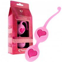 FEELZTOYS Desi - szíves gésagolyó duó (pink)