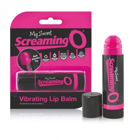Screaming Lip Balm - rúzs vibrátor (fekete-pink)