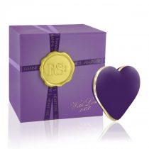 RS Icons Heart - akkus csikló vibrátor (lila)
