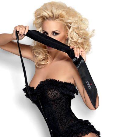 Obsessive Blindfold - bondage sál (fekete)